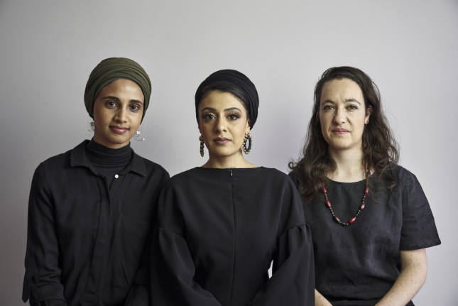 Headshot of three women in black
