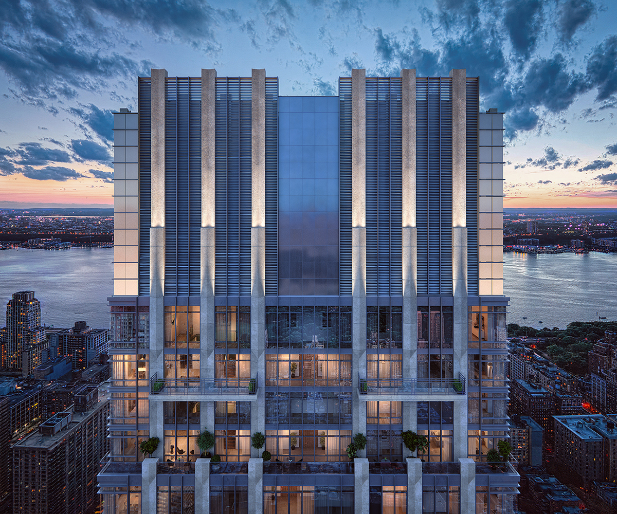 Rendering of top penthouse floors of 200 Amsterdam