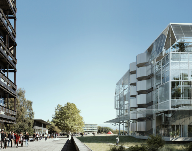 Rendering of the Life Sciences Building exterior