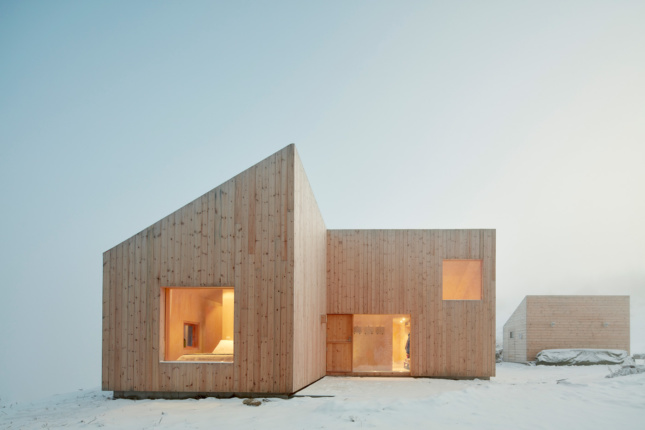 A gabled, timber home designed by a 2020 Emerging Voices winner
