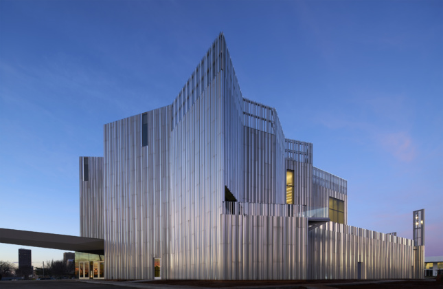 Exterior image of the Oklahoma City Contemporary Art Center's facade