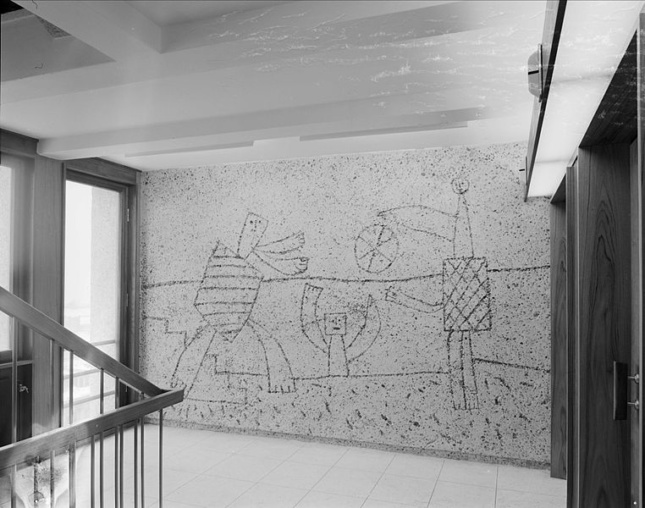 a sandblasted relief by picasso in oslo