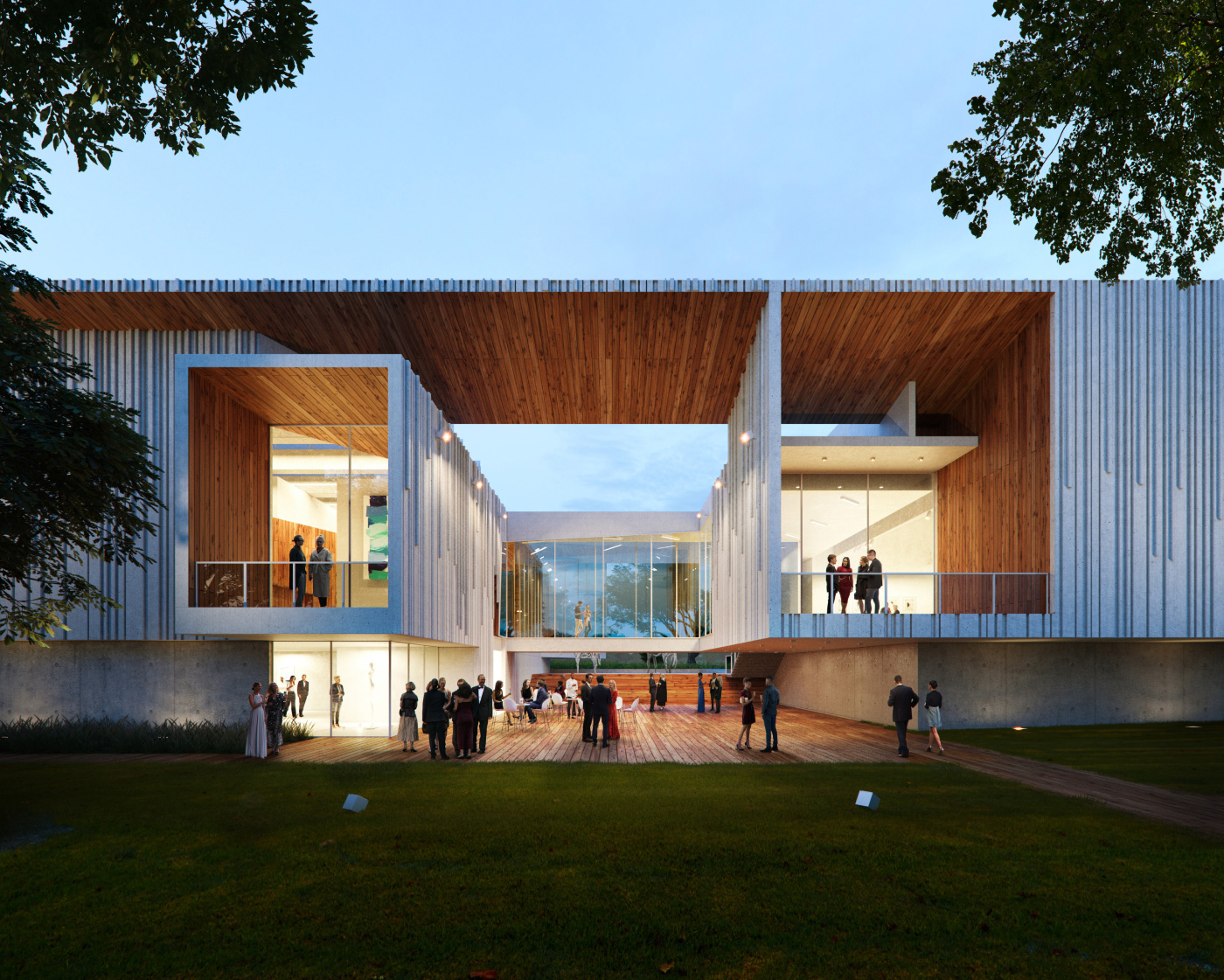 Rendering of the Menello Museum in Florida by Brooks + Scarpa