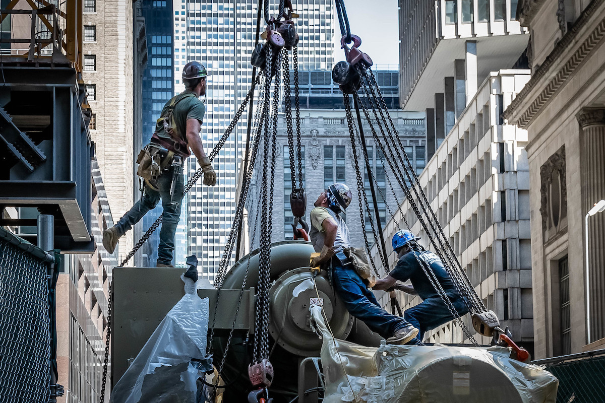 construction workers in NYC, now on freeze