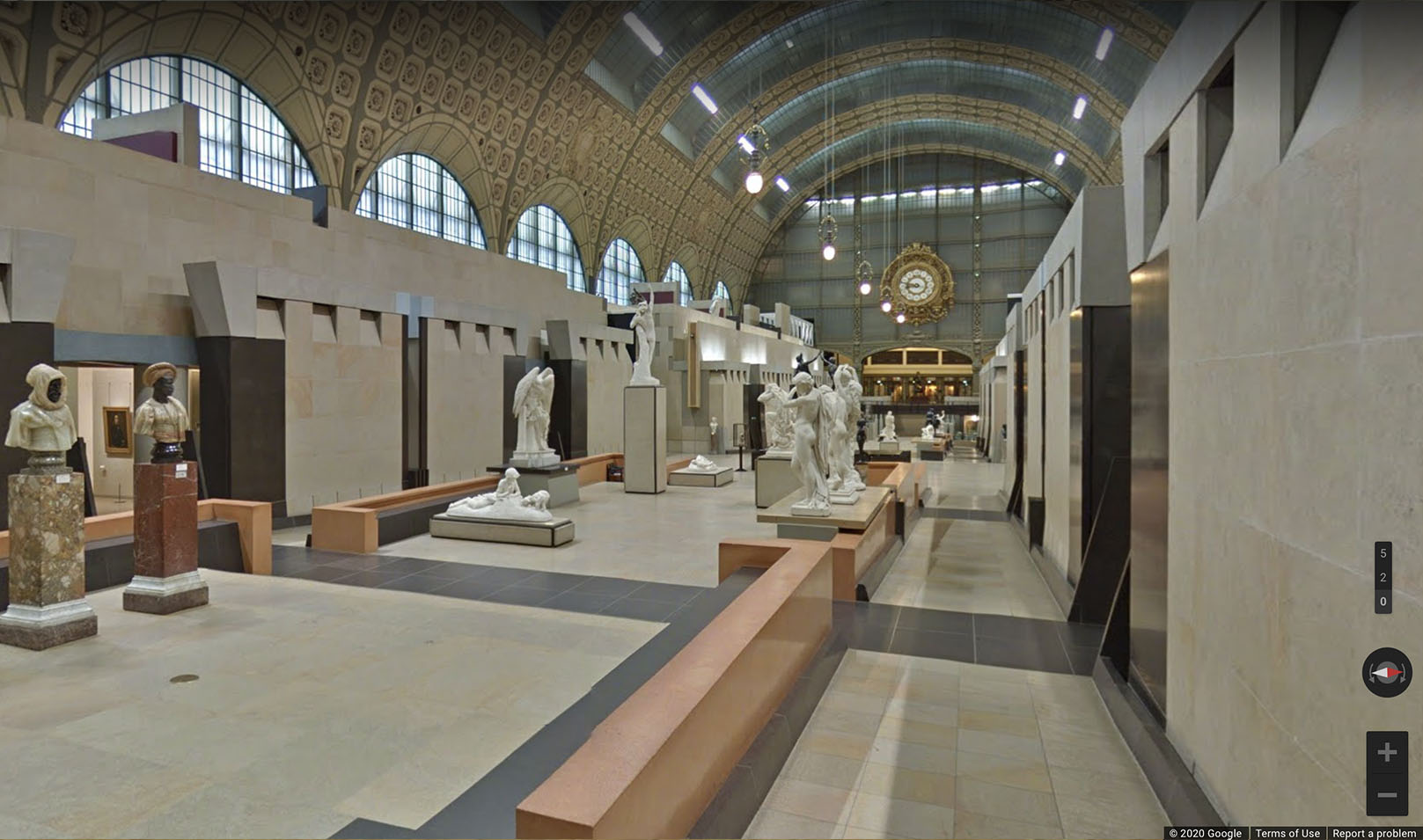 Large room with rounded ceiling and benches, on Google Arts & Culture