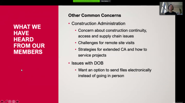 Slide detailing construction administration issues