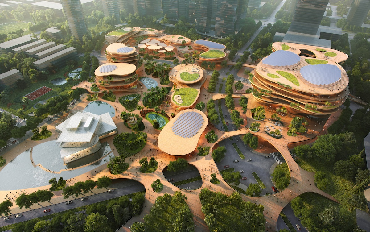 illustration of a in-development campus center for Shenzhen, China