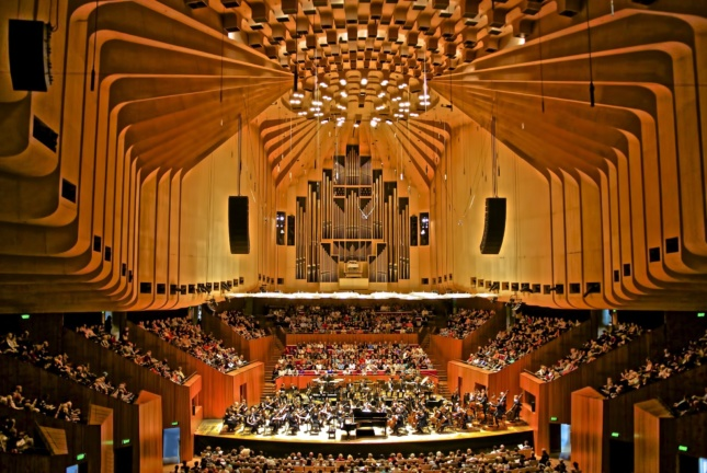 interior of concert hall at sydney opera house