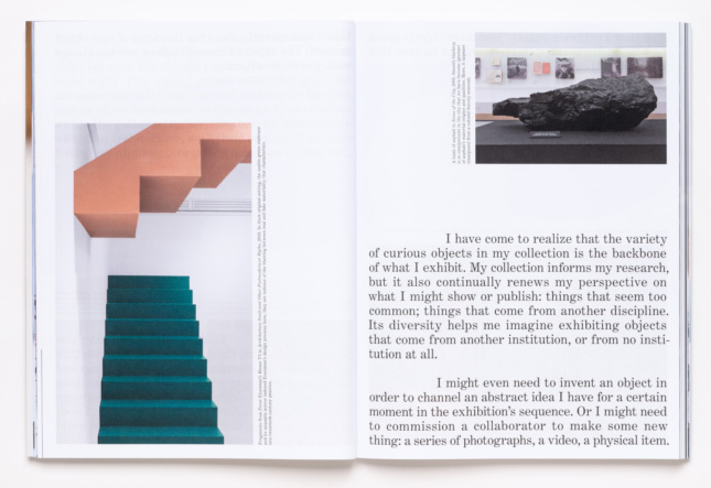 Interior spread of a book