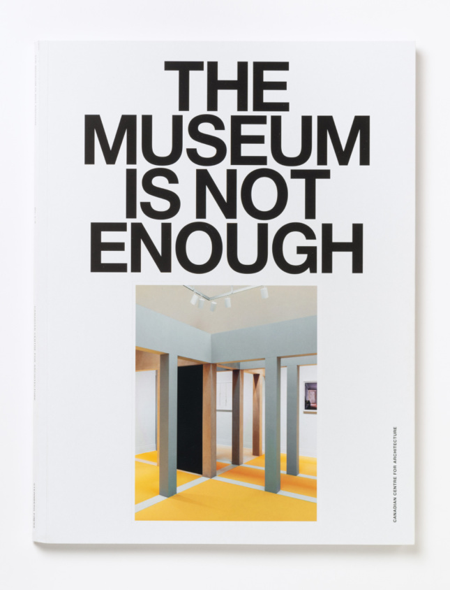 A white cover that reads The Museum is Not Enough
