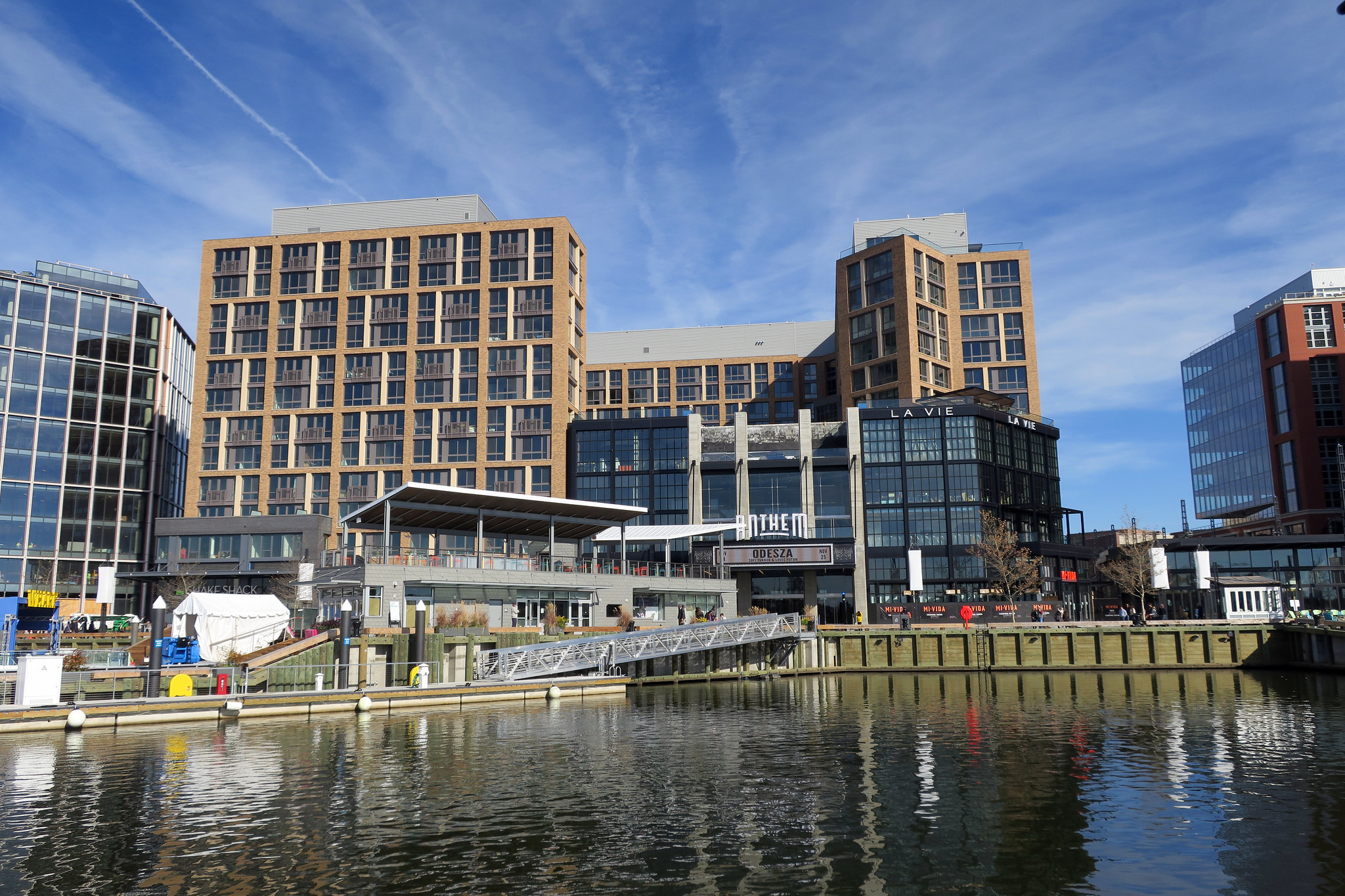 A waterfront development in Washington, DC, the Wharf, featuring mixed-use towers