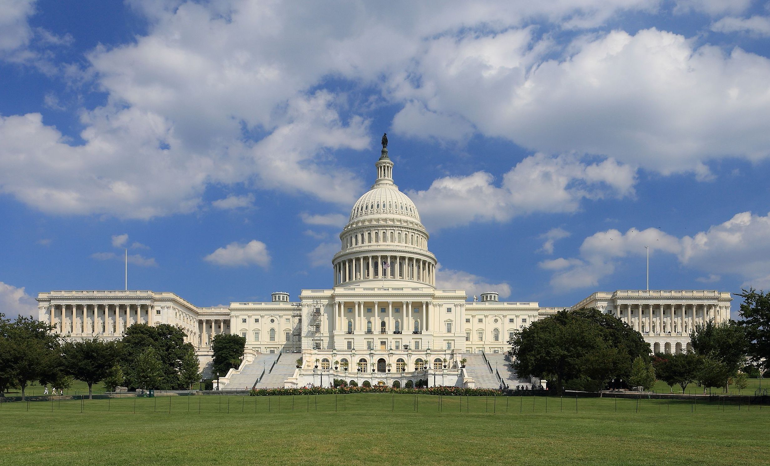 Exterior photo of the US Capitol Done