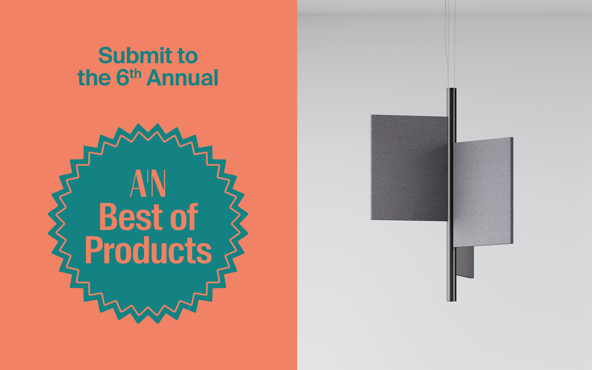 A header reading AN Best of Products next to a pendant light
