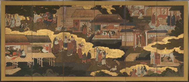 A 17th-century Japanese tapestry at the Metropolitan Museum of Art