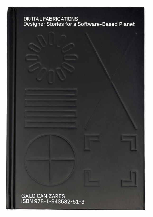 """Black book cover with """"digital fabrications"""" in white"""