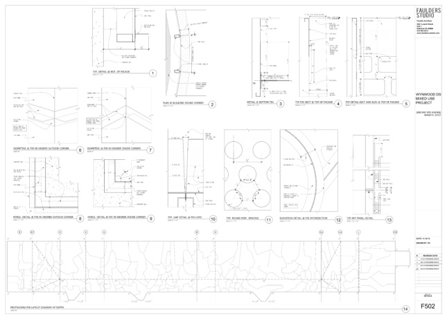 Diagram of all the facade details