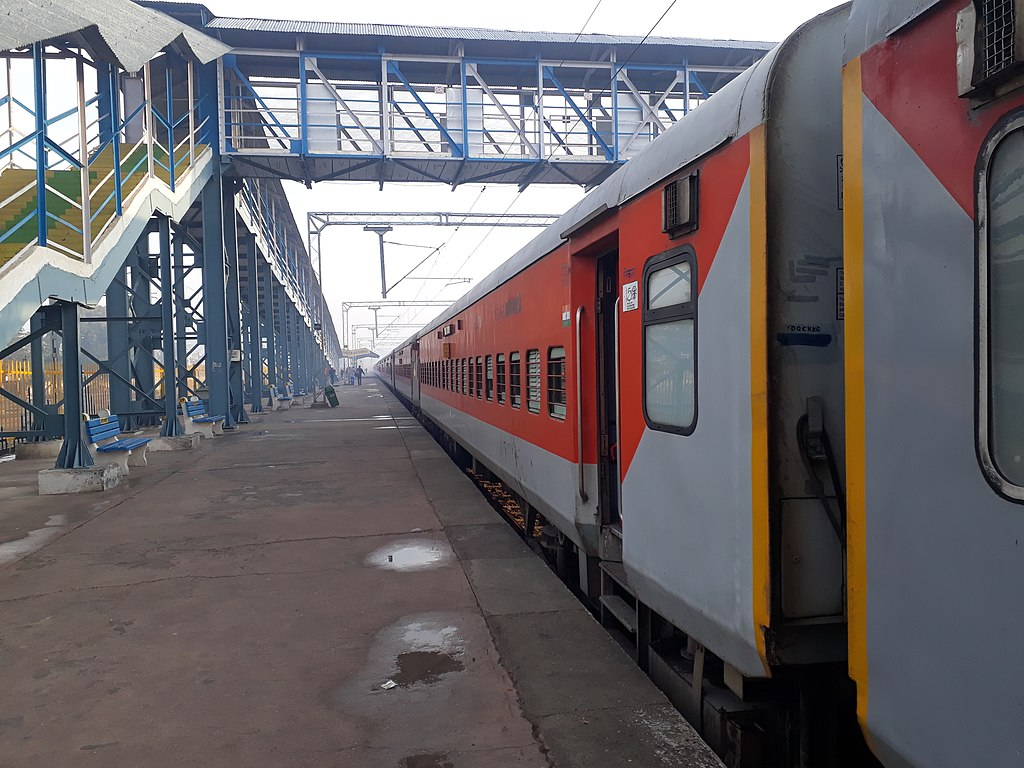 a passenger train in india