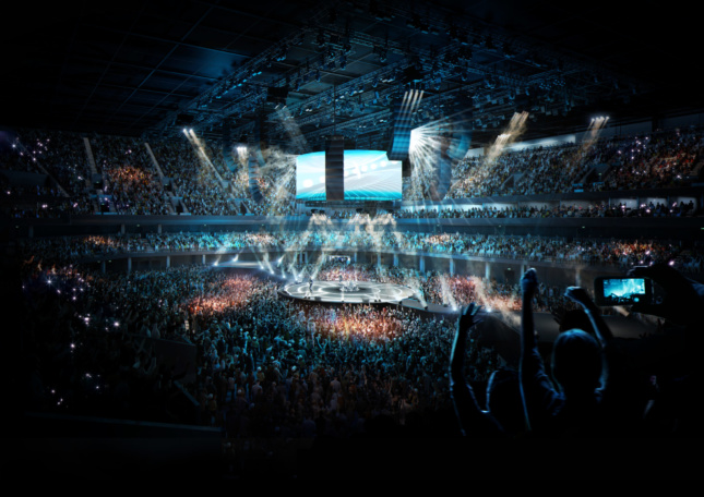 a rendering showing the inside of OVG Manchester Arena
