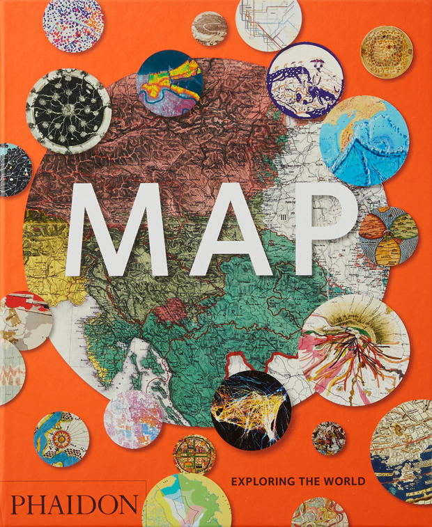 """Orange book cover with the word """"map"""" on it"""
