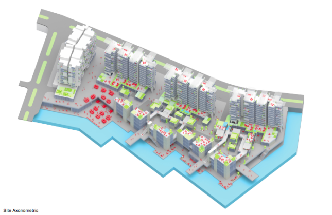 a diagram of a mixed-use development in Chengdu