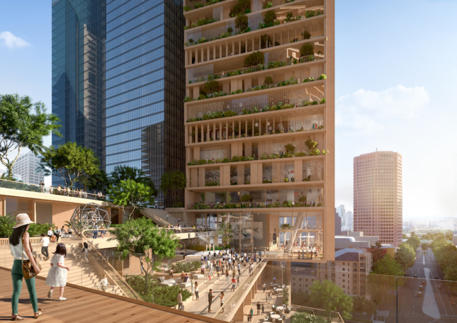 illustration of a mixed-use vertical community planned for melbourne