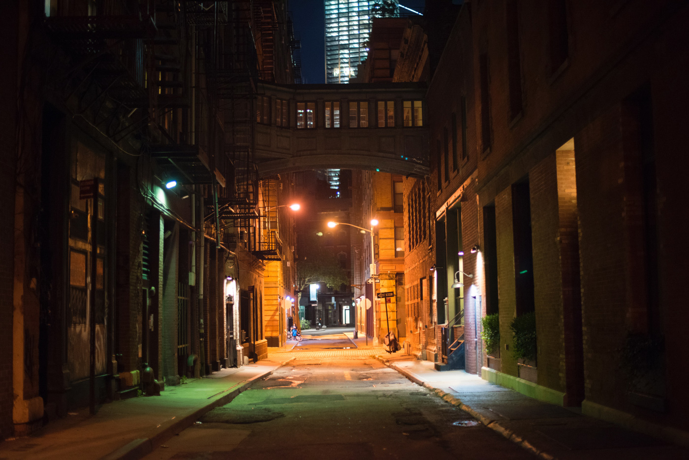 The empty streets of Manhattan at night,. The DDC has put a pause on public design work