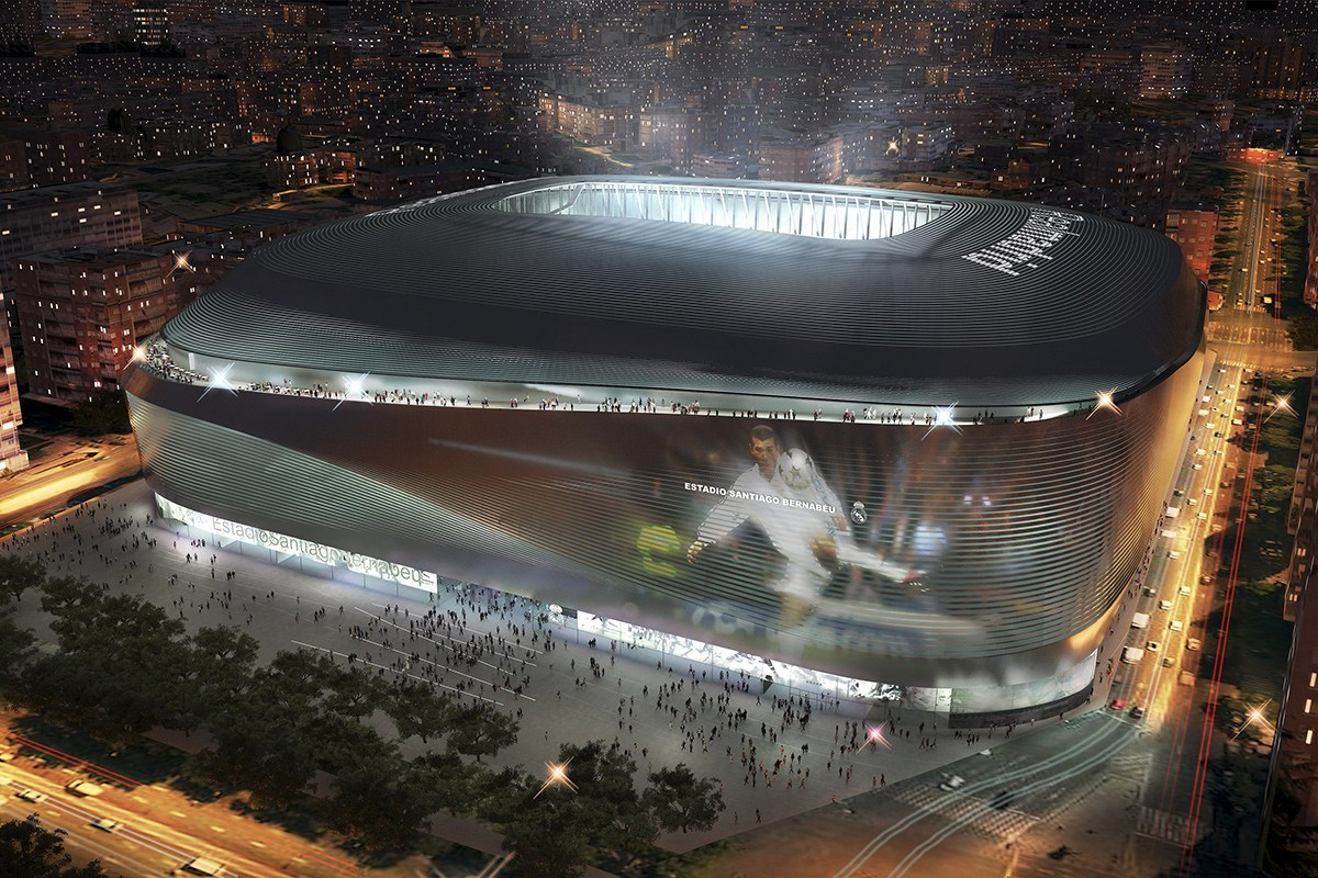 Rendering of a banded stadium