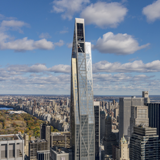 Image of 53 West 53 Tower highlighting reinforced concrete structural frame