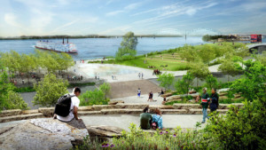 a rendering of the new tom lee park in memphis
