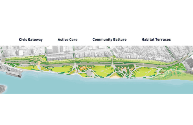 an illustration of the plan for tom lee park in memphis