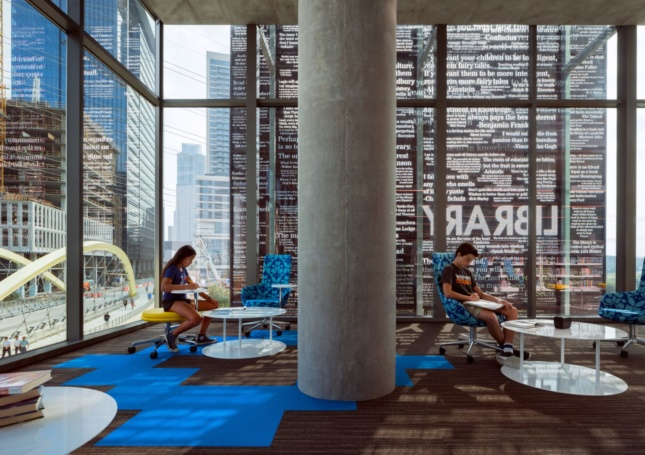 Austin Central Library, an AIA COTE project with people inside