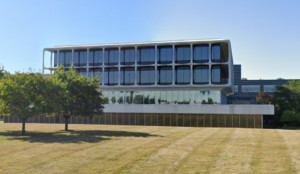 a modernist office building outside of detroit, the federal-mogul