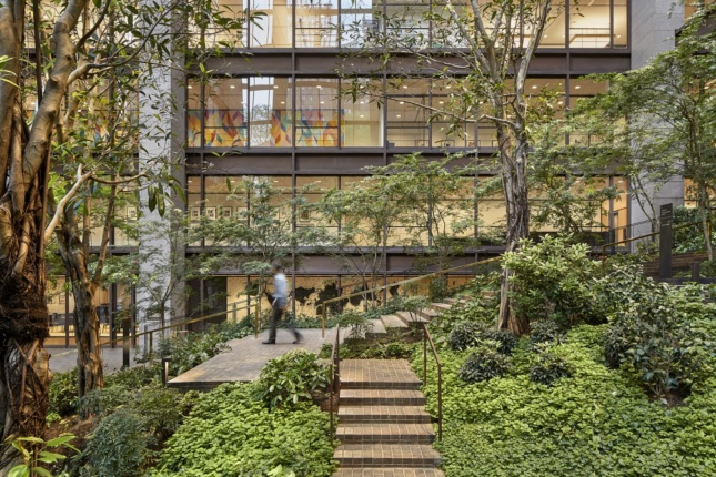 Ford Foundation, New York, a modern office tower with central atrium and AIA COTE winner