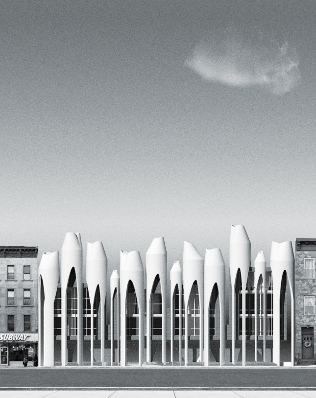 Speculative tube-shaped houses