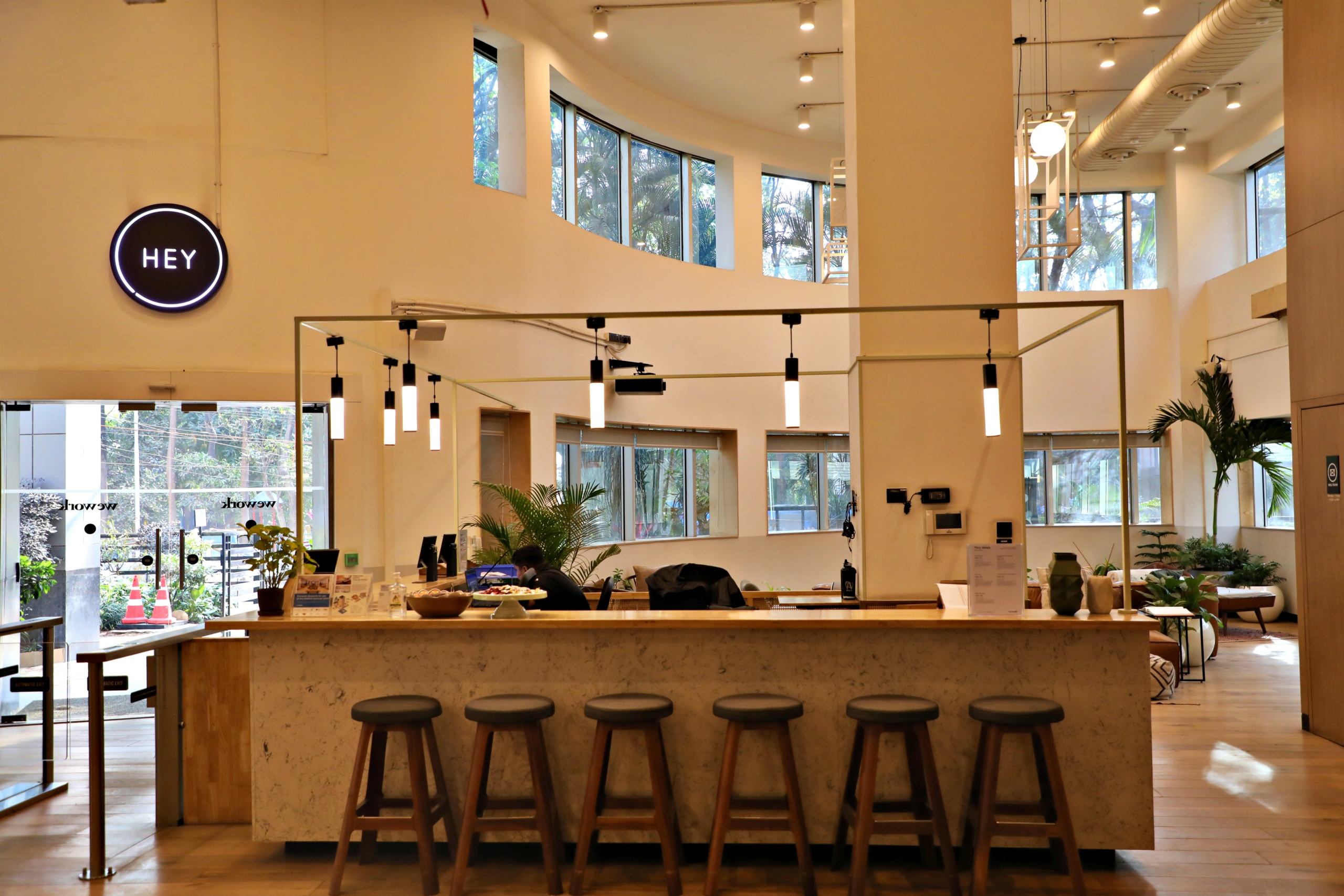 Photo of the interior of WeWork, Prestige Atlanta, 80 Feet Road, Koramangala 1A Block, Koramangala 3 Block, Koramangala, Bengaluru, Karnataka, India