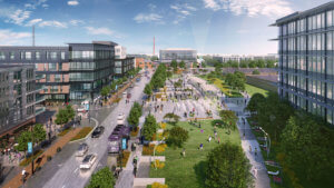rendering of innovation district in indianpolis