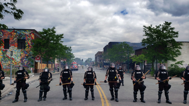 Photo of police in Minneapolis