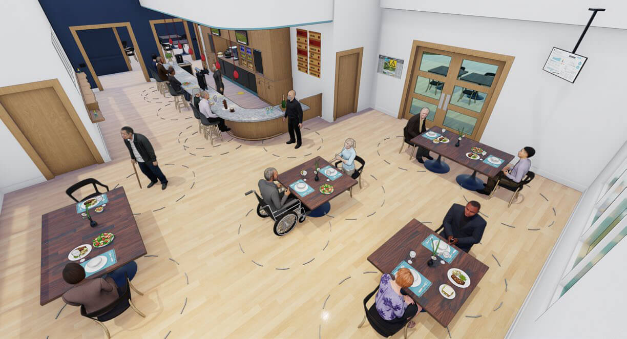 Rendering of a senior living facility