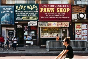 signs for businesses in the bed-stuy section of the bronx, a neighborhood qualifying for Neighborhood Now