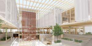 an illustration of a net-zero library design