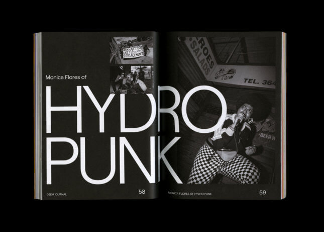 Photo of Deem's article on Monica Flores of Hydro Punk