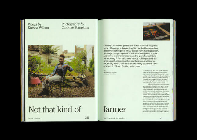 Photo of Deem spread on a profile with Oko Farms