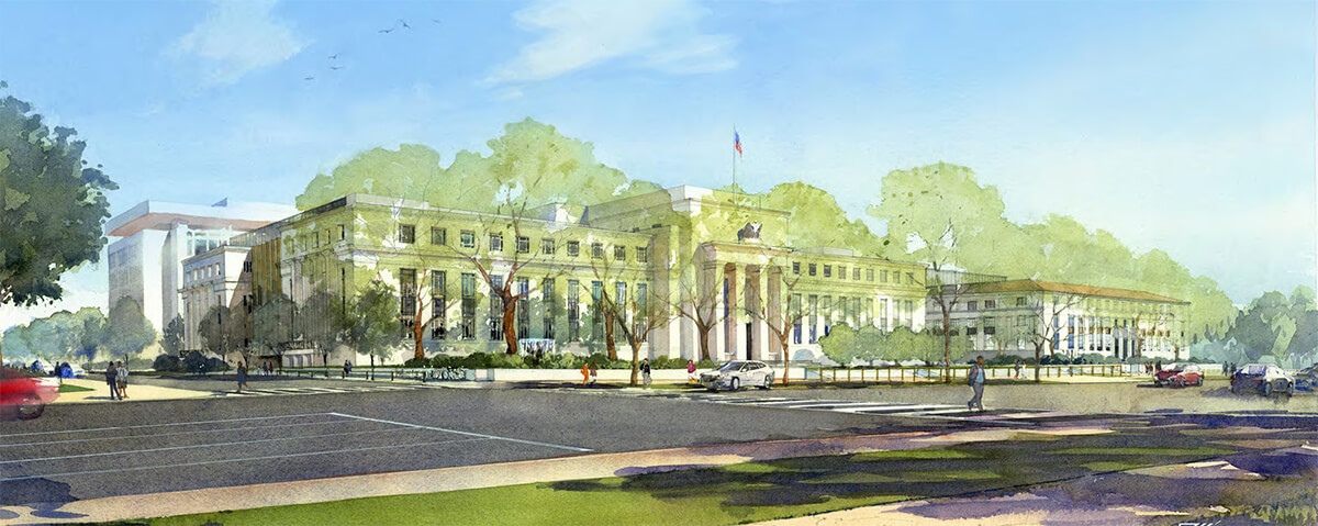 architectural watercolor rendering