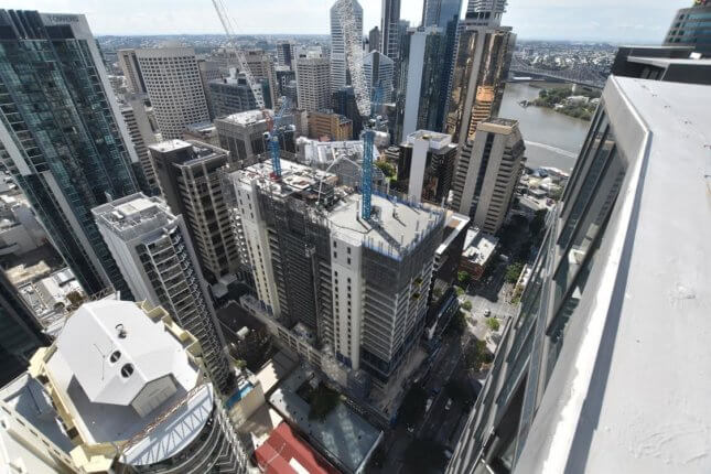 aerial photo of high-rise project in Brisbane