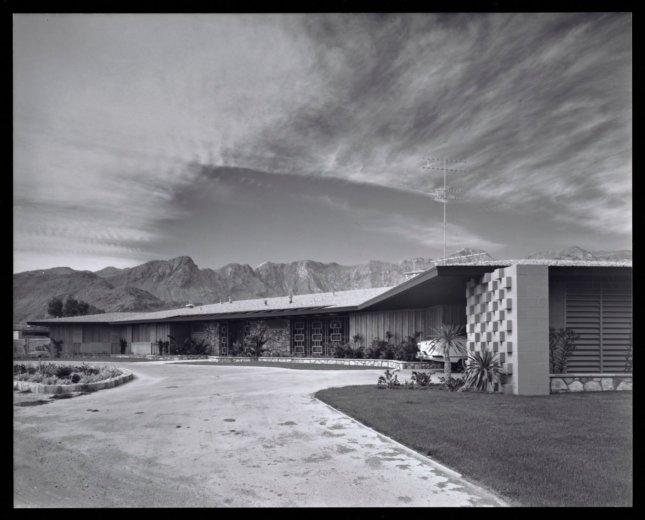 archival photo of arnaz house, palm springs