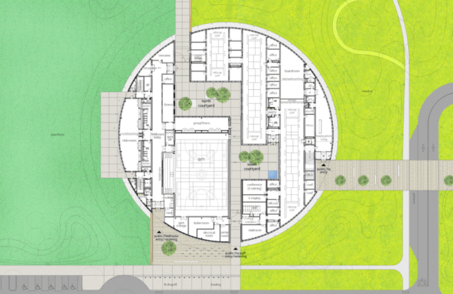 a floor plan illustration for a park building in chicago