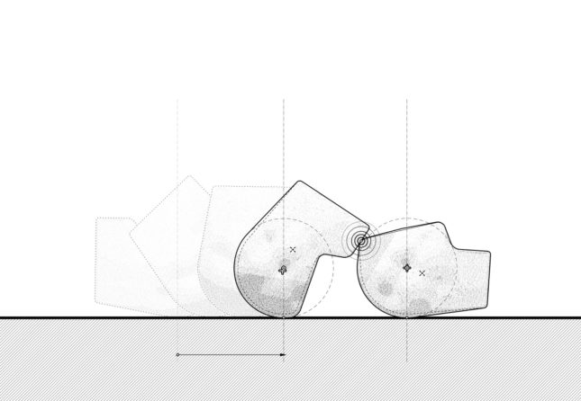 A diagram of two concrete slabs fitting into each other