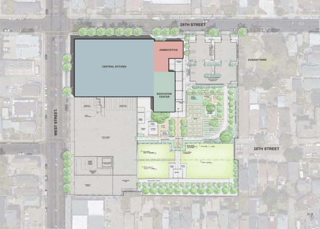 Site plan of The Center in Oakland, California
