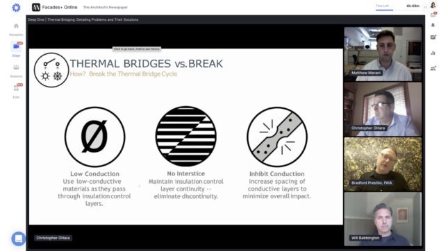 Image of the online panel at Facades+ Online
