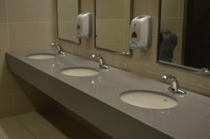 Public restrooms will have to be outfitted with new touchless technologies—like sensor taps and automatic doors—to prevent germ spread, and, potentially, a second wave of the Coronavirus.
